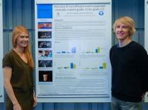 Katariina und Marko Ahonen, die Gewinner des Posterwettbewerbs